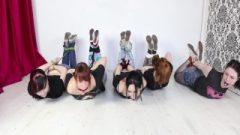 5 Ladies Hogtied