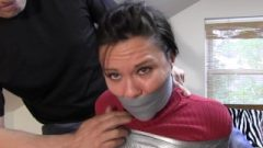 Audrey Bound And Gagged