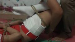 Japanese Hogtied In Socks (3)