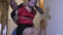 Hogtied In Pantyhose And Left