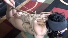 Hannah Perez Hogtied And Toetied