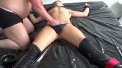 Daddy's Dirty Bitch Being Tied Up, Abused And Getting Destroyed Really Raw