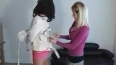 Straitjacket Girl Hogtied And Gagged