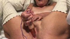 Tied Up Pussy Spread Wide Granny Milf Mature Vibrator Masturbation