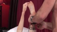 Massive Tit Blonde Gets Tied Up And Destroyed