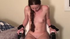Hitachi Torture. Canadian Girl Tied Up Cumming On Hitachi