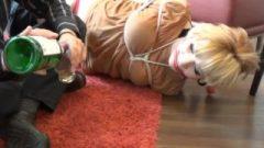 Hogtied Barefoot On A Hotel Floor