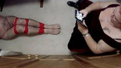 Guy Kept Tightly Roped Up And Gagged In Room By Woman