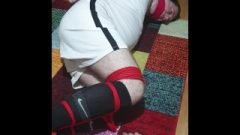 Tied Up And Gagged Footballer 4