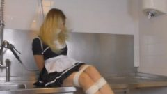 Julie Vega – Fair-haired French Housemaid Tied Up And Gagged