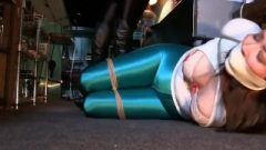 Jj And Riley Left Tied Up And Gagged In Their Tight, Shiny, Spandex