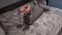 Elise Shows Us Off Bare Feet And Meaty Butt While Tied Up And Gagged!