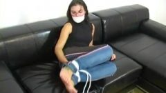 Sheila Takes Hogtied On The Casting Couch