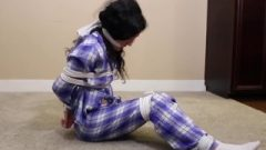 Slut Tied Up On The Floor In White Ankle Socks