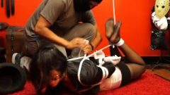Kissable Wizard Struggles In Hogtied!!