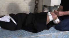 Sister Madalynn Kept Roped Up And Gagged In The Church Cellar