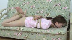 Silk Attractive Pajamas Tied (asian-bondage.com)