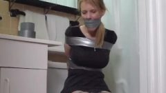 Amber Taped In The Shower-room